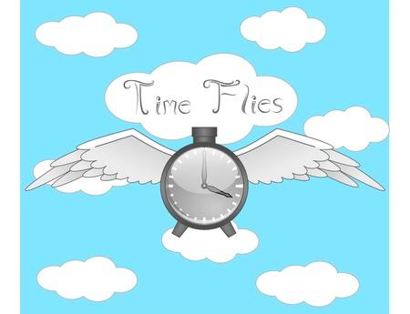time flies: Time Flies Illustration
