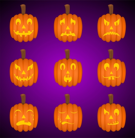 Pumpkin Smileys Vector
