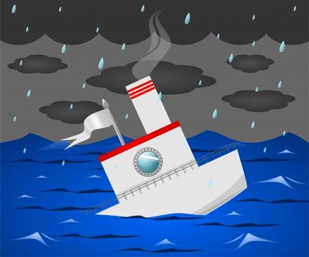 sinking: Sinking Illustration