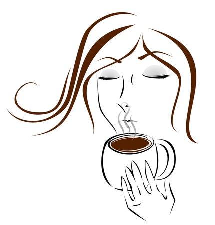 De geur van koffie Stockfoto - 18794374