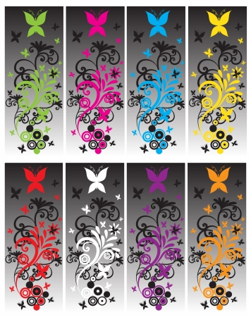 gray: Butterfly Banners
