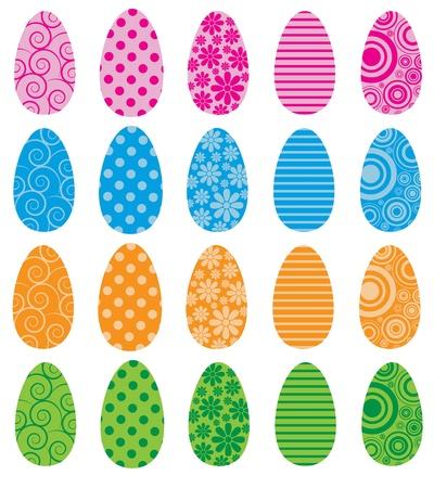 filled: Pattern Filled Eggs Illustration