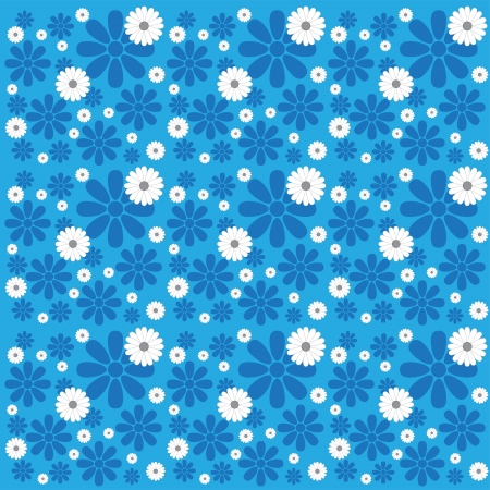 Blue White Flower Pattern