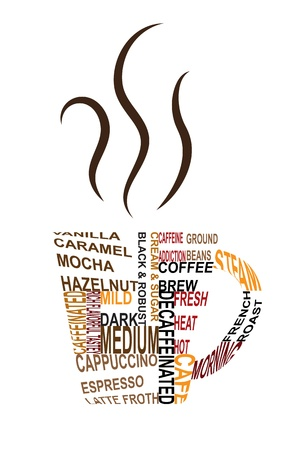 Distorted Text Coffee Иллюстрация