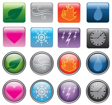 Elemental Buttons Vector
