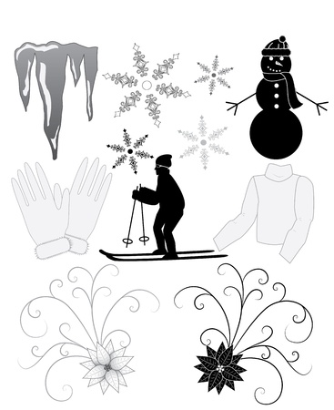 versatile: Winter Icons Illustration