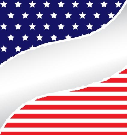 Patriotic Rip Ilustracja
