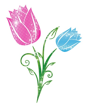 Glittering Tulips Stock Vector - 20238308