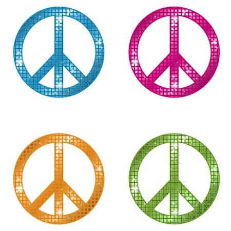 peace symbol: Glittering Peace