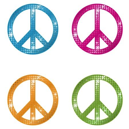 peace sign: Glittering Peace