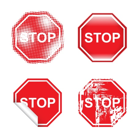 stop signs: Decorative Stop Signs