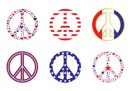 'peace sign': Patriotic Peace Signs