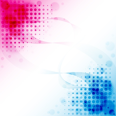 Pink Blue Abstract