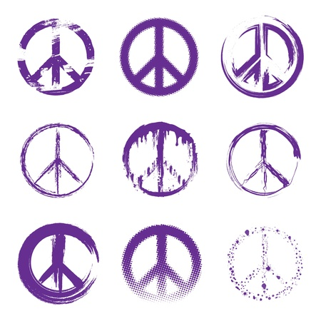 peace symbol: Grunge Peace Signs