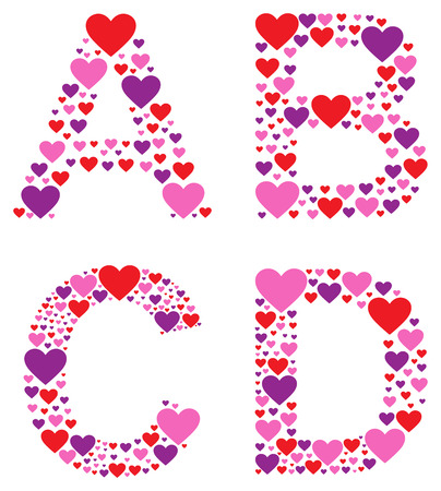 english letters: Hearty ABCD