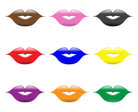 Glossy Lips Stock Vector - 37425429
