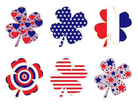 clovers: Patriotic Clovers Illustration