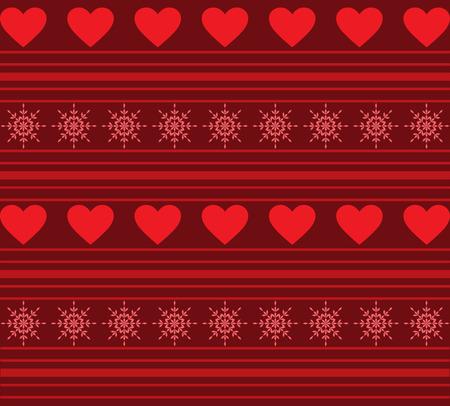 fondo rojo: Corazones y fondo de las rayas