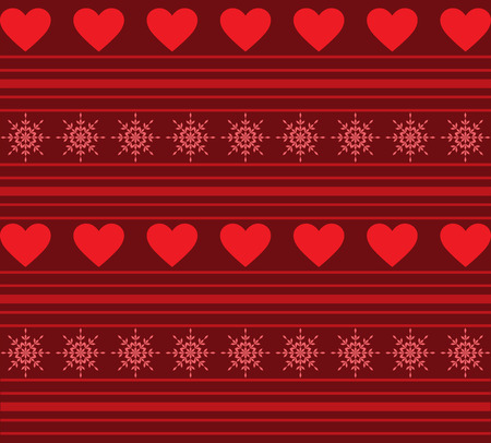 holiday background: Hearts And Stripes Background
