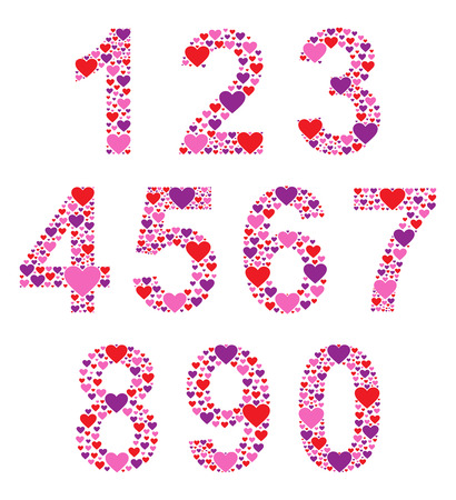 Hearty Numbers Vector