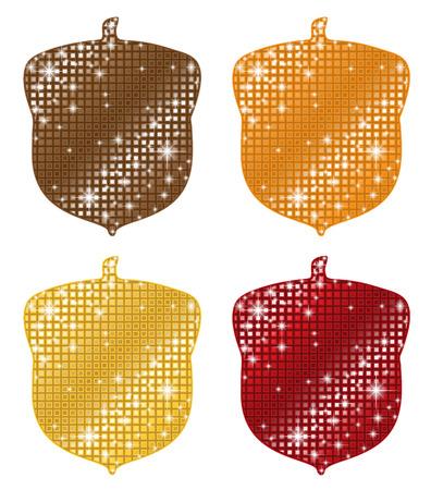 acorns: Glittering Acorns