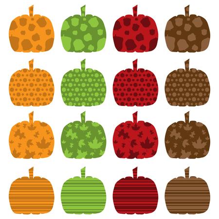 filled: Pattern Filled Pumpkins Illustration