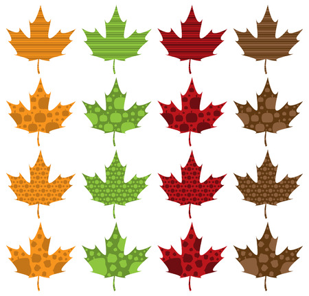 filled: Pattern Filled Maple Leaves