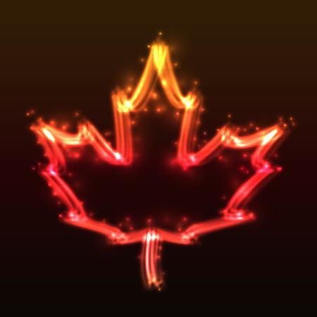 plasma: Plasma Maple Leaf Stock Photo