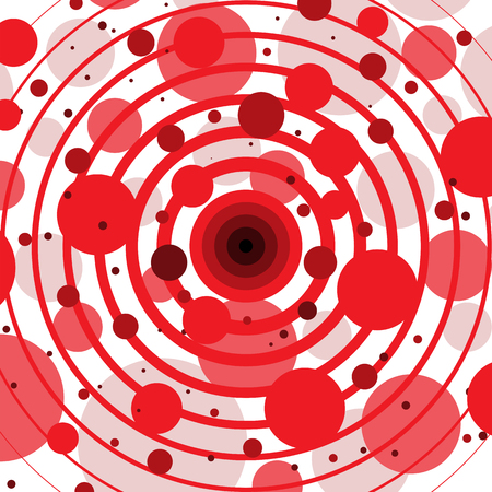 Red Circles and Rings Abstract Background