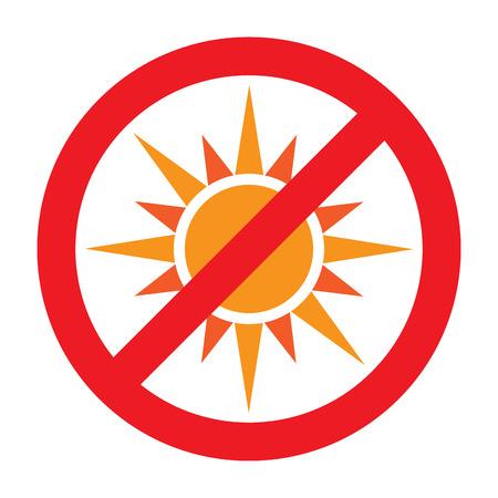 No Sun Symbol