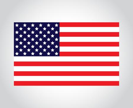 Isolated American Flag Ilustrace