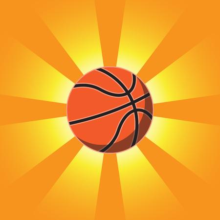 Basketball Over Sunrise