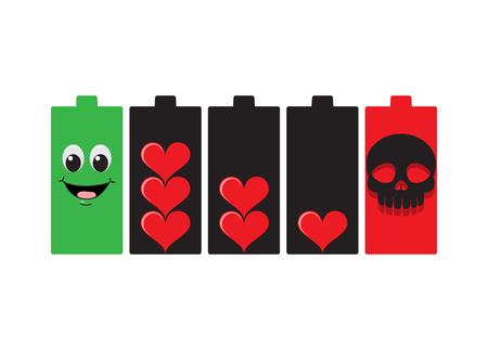 Batterielebensdauer Vektorgrafik