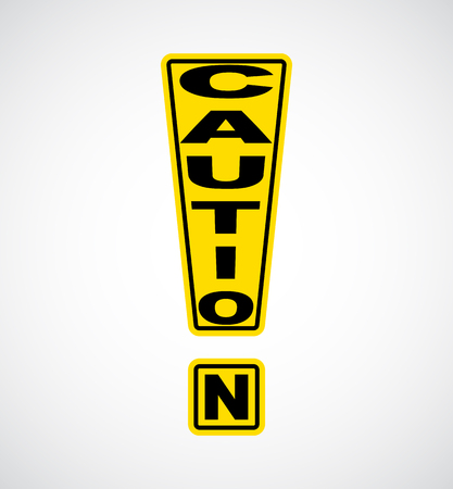 Yellow Exclamation Mark Caution Sign
