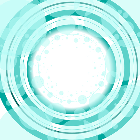 Blue White Circles and Rings Abstract Background