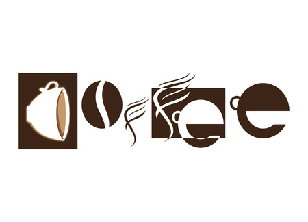 Coffee Shapes Text Art
