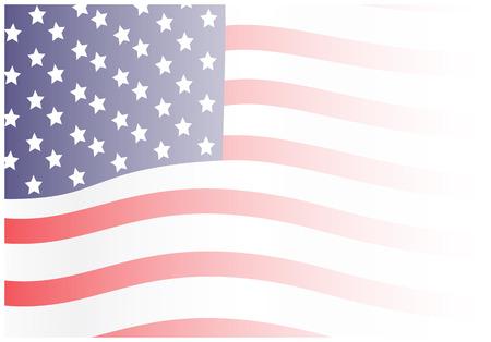 Wavy Fading Flag Background