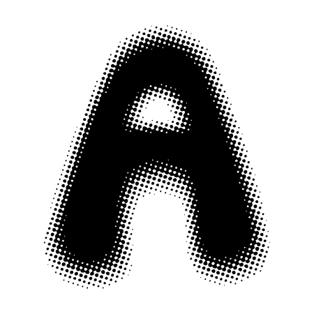 Halftone Letter A
