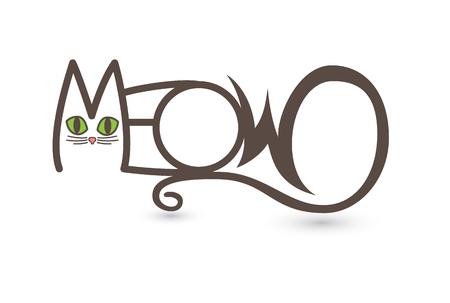 MEOW Cat Text Art