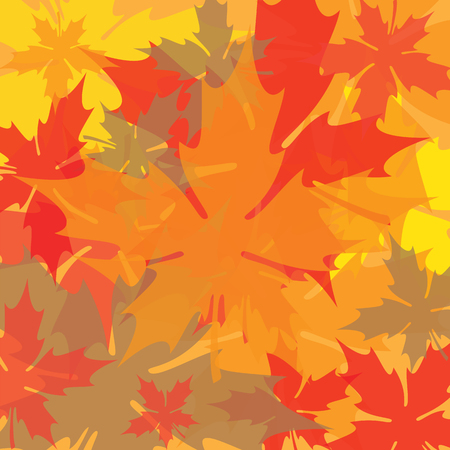 Overlapping Transparent Maple Leaves Background