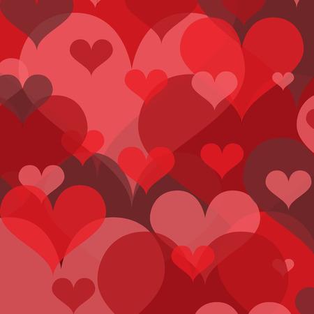 Overlapping Transparent Hearts Background Ilustração