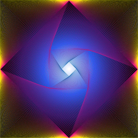 Coloful Square Line Art Abstract