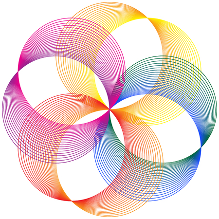Colorful Circles Rings Abstract