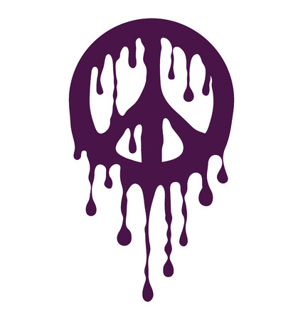 Dripping Peace Sign Ilustrace