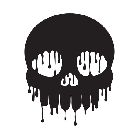 Dripping Melting Skull