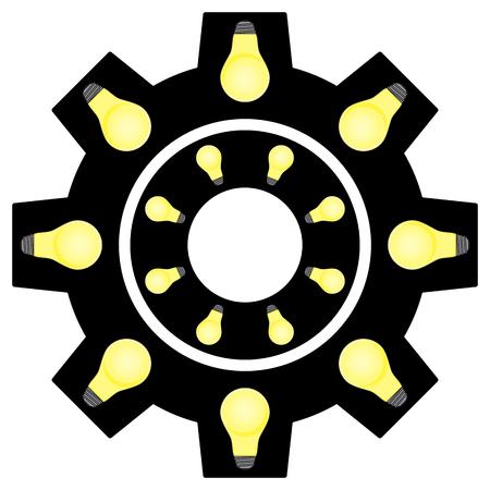 Gear Of Light Bulbs