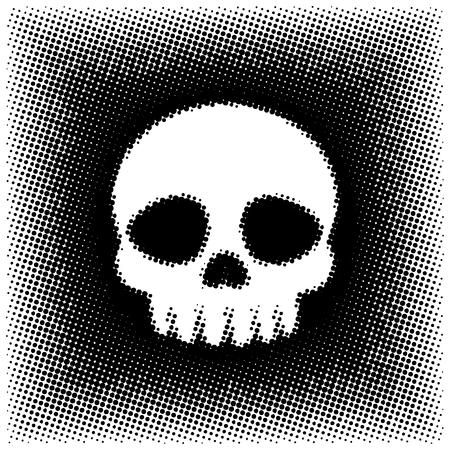Halftone Style Skull