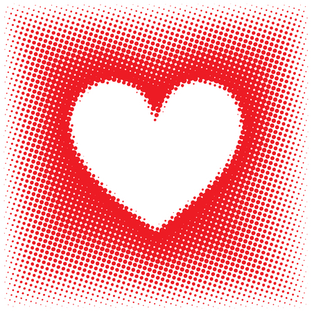 Halftone Styled Heart