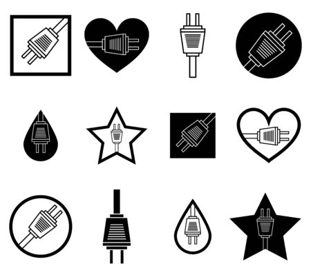 Plug In Icons Set