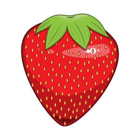 Detailed Strawberry Illustration
